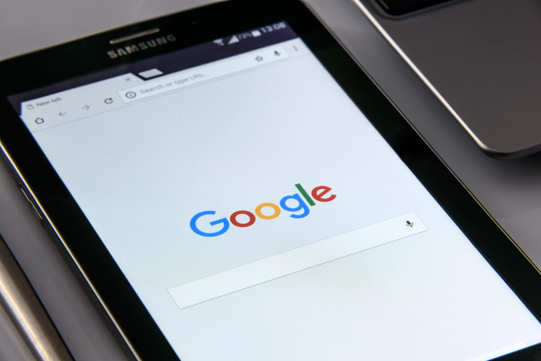 googleの検索ページ