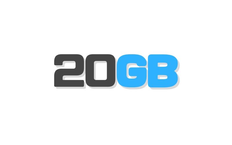 20GBの通信量のイラスト