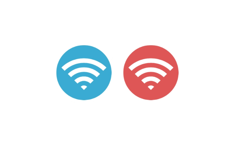 wifiマークのイラスト